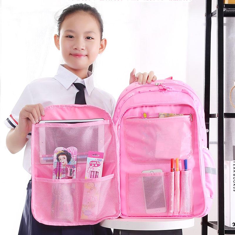 儿童女童背包1-3-4-5-6书包减负护脊女孩年级书包双肩公主小学生