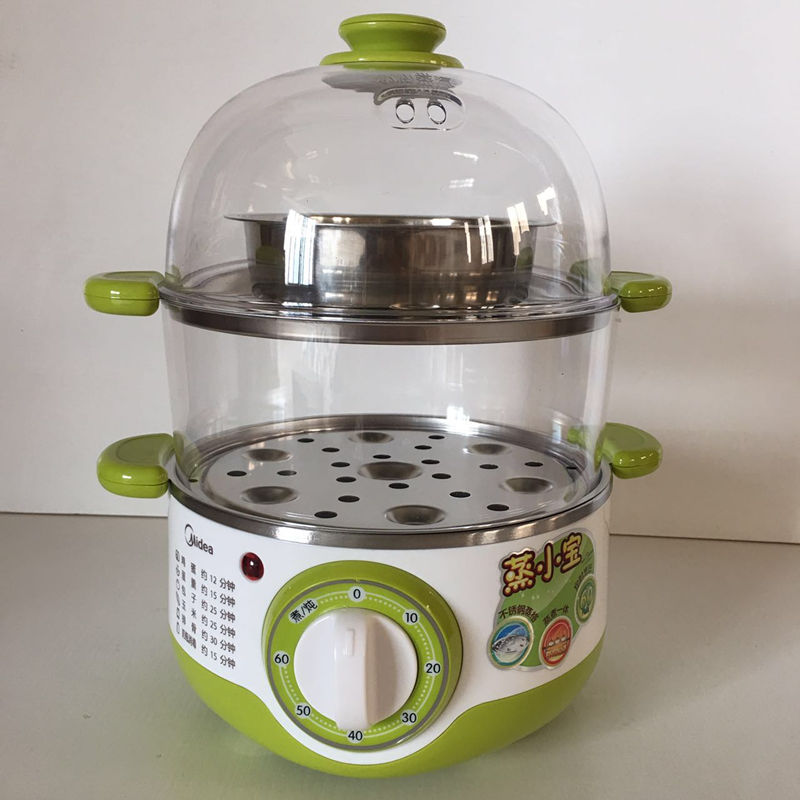 美的 MZ-SYH18-2A 蒸蛋器自动断电煮蛋器家用迷你早餐机蒸小宝