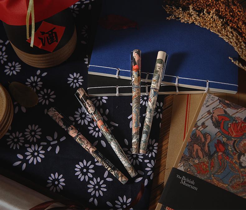 晨光文具 大英博物馆 水浒豪杰系列 速干水性笔 签字笔 4支 天猫优惠券折后¥9.8包邮(¥12.8-3)