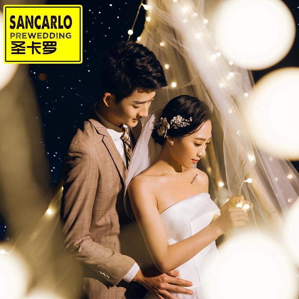 圣卡罗全球旅拍婚纱照 三亚丽江大理普吉岛结婚照团购