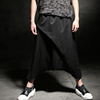 New Haren Pants, Crotch Trousers, Men's Fashion Casual Pants Tide Brand Nine Minutes Of Black M L XL