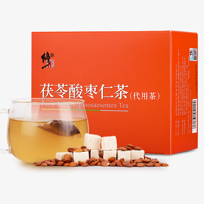 修正茯苓酸枣仁茶百合茯苓茶□中药材粉膏正品