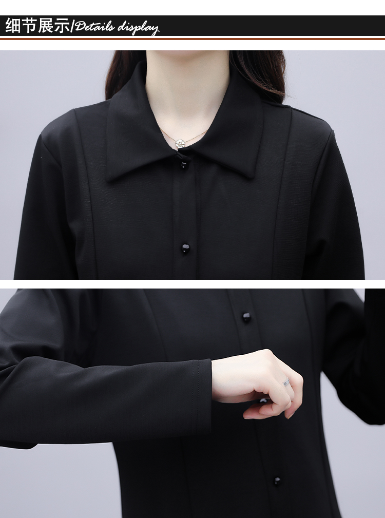 Black large-size embroidered windcoat female medium-length autumn/winter 2020 new foreign air age-reducing thin temperament coat woman 53 Online shopping Bangladesh