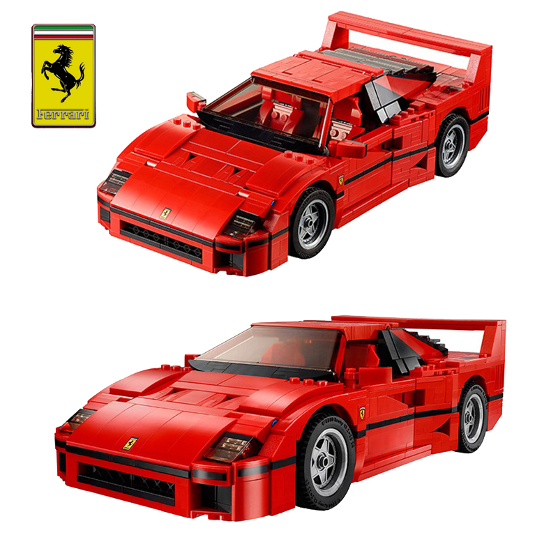 Usd 58 30 Assembled Building Blocks F40 Ferrari Model Car Assembly