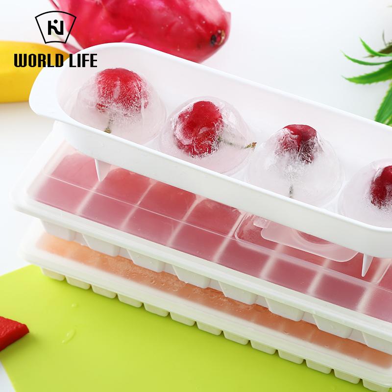 日本进口家用冰箱易取有盖模具制冰盒
