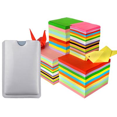 儿童手工彩色折纸10色100张送卡套
