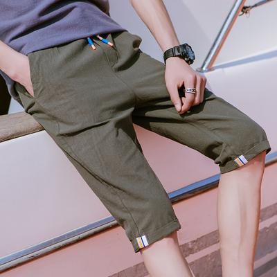 Cắt quần quần short nam lỏng thường năm điểm quần mùa hè phần mỏng 7 quần nam Hàn Quốc phiên bản của thủy triều Mỏng ống túm 3/4 Jeans