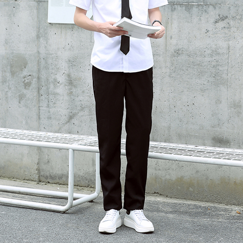 Xuan Qi, American and Korean versions of British school uniform, long  trousers, high school students zipper costume, long trousers and school  trousers