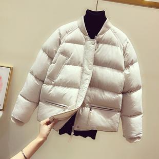 Корейский хлопок женские короткие должен стоять воротник 2019 зимний новый студент хлопок одежда пальто утолщённый сохраняющий тепло мало хлопок куртка волна