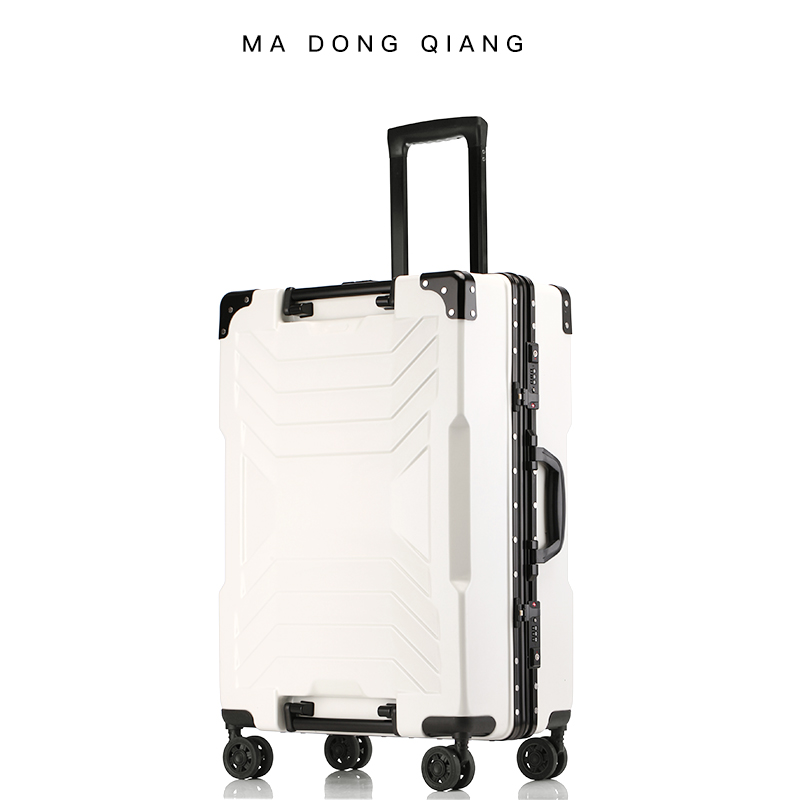 Ma Dongqiang luggage million wheel male and female lever suitcase students 20 boarding password box 26 aluminum box 29 inch