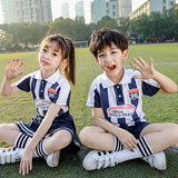 Summer new children's football performance clothing in the big children's basketball cheerleading clothing elementary school uniforms class uniform stripes
