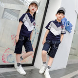 Children's clothing boys and girls summer new style cotton children's short-sleeved shorts, casual fashion class suits, school uniforms