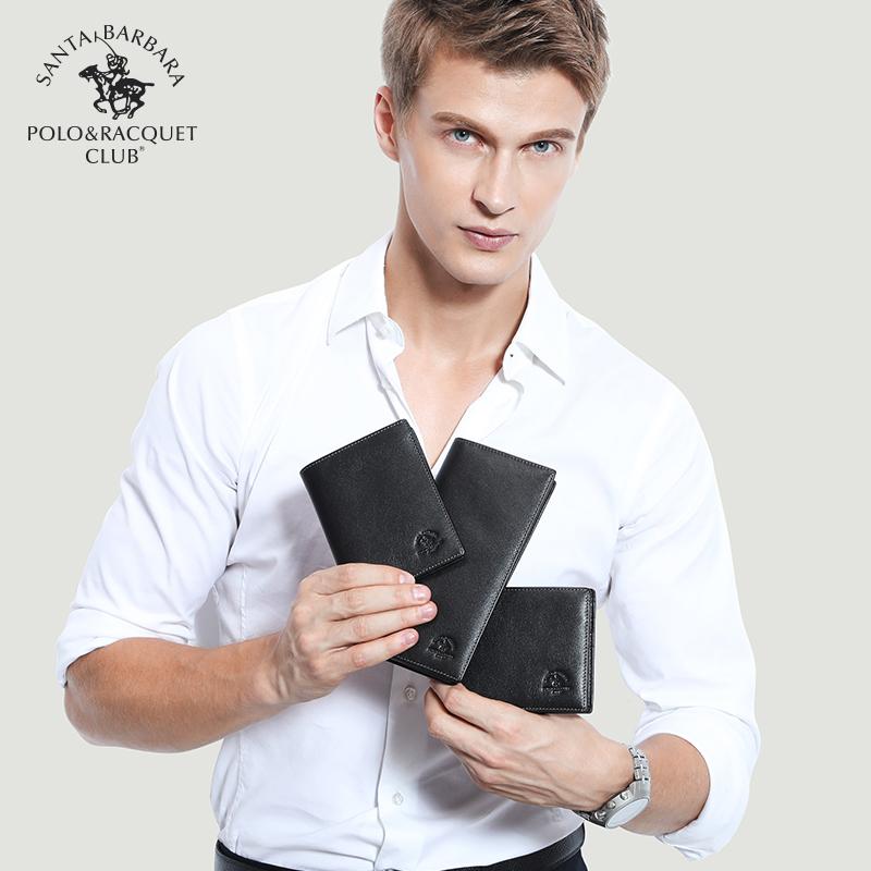 圣大保罗钱包男士短款真皮正品钱夹薄款皮夹商务 欧美头层牛皮软