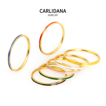 4 pieces of Japan and South Korea ultra-fine ins tail ring IPG18K color ring titanium steel ring fine tail ring Korean fine joint ring
