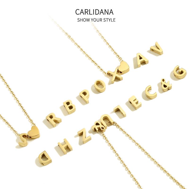 钛钢镀金DIY手工定做26字母项链ins同款英文字母锁骨链情侣礼物