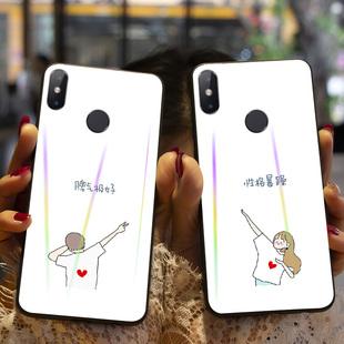 情侣可爱小米手机壳全包磨砂