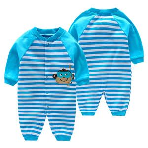 女婴儿连体衣服男宝宝0新生儿6秋冬装1岁春秋冬季3个月婴幼儿秋装