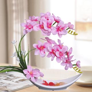 Фаленопсис моделирование костюм ложный цветок прекрасный цветок сухие цветы керамический цветок бутылка гостиная обеденный стол украшение декоративный декоративный цветок, цена 185 руб