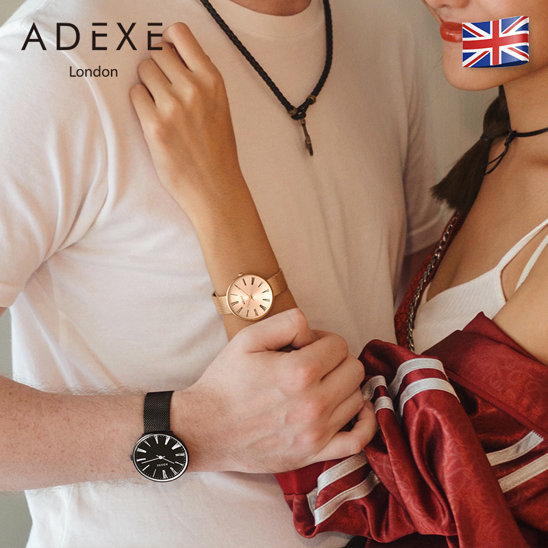 ADEXE正品英国小众情侣手表一对