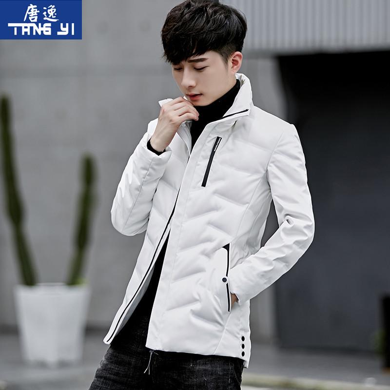 2018新款羽绒服男士外套短款冬季韩版潮流薄款立领修身青年轻薄款