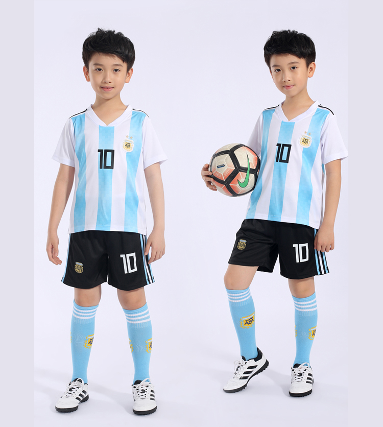 319d82121df ... Argentina Brazil children s soccer clothing suit men and women primary  school training clothes 2018 World Cup