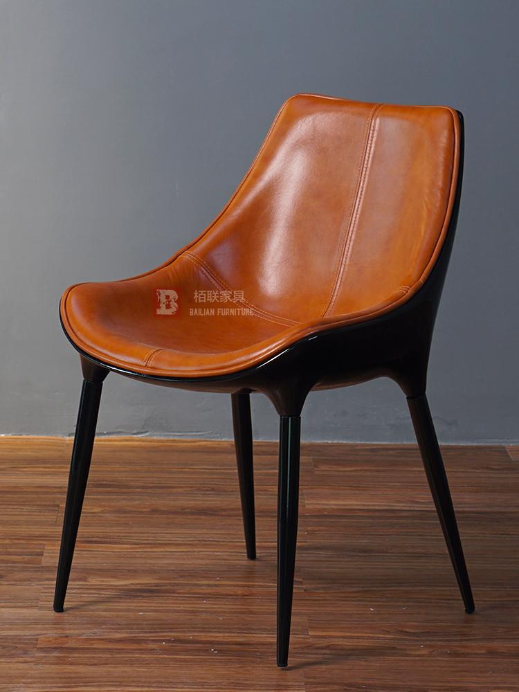Thiết kế đơn giản sáng tạo Diana không có tay vịn ghế ăn Bắc Âu họp đồ nội thất giản dị thương lượng ghế da thời trang