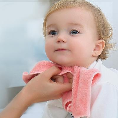 婴儿毛巾口水巾新生儿宝宝洗澡比纯棉柔软吸水洗脸小方巾手帕儿童