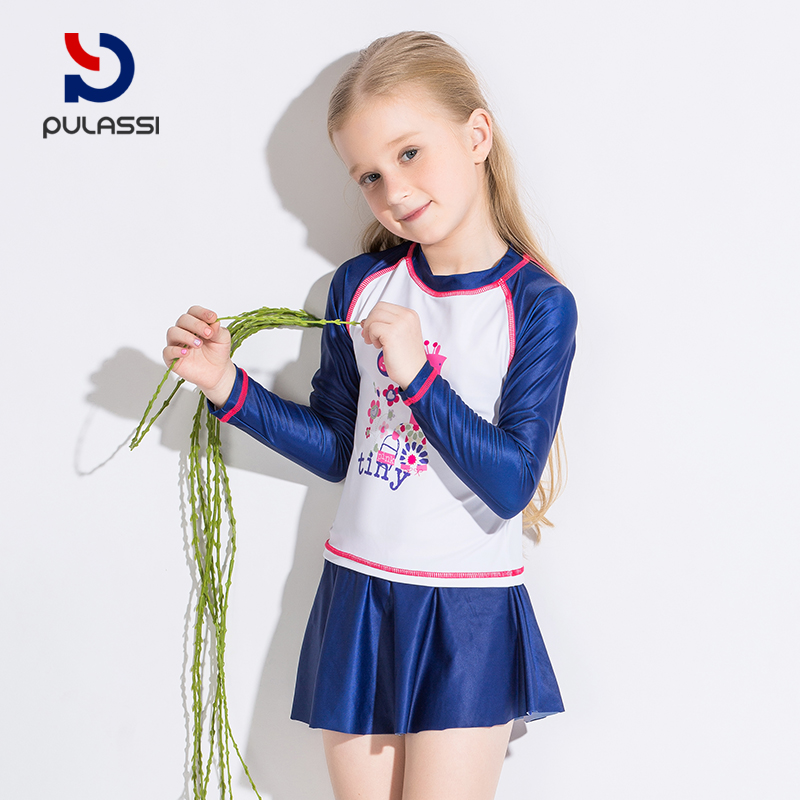 c3c41a42edd54 Plasch girl swimsuit in the big boy cute suit Korean little princess dress split  child swimsuit