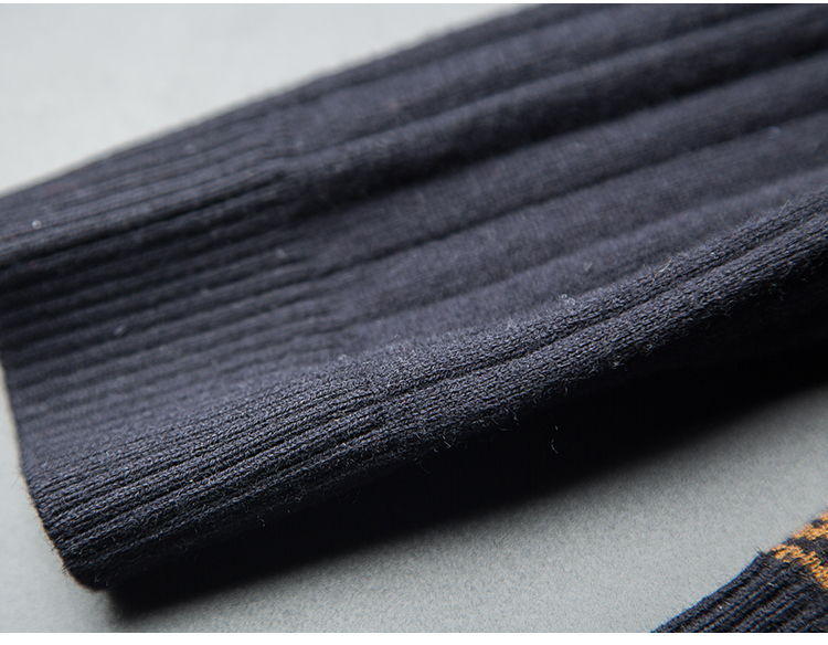 Cows! 100 wool men's winter V collar thick knit sweater business trim fashion skeleton long sleeves 29 Online shopping Bangladesh