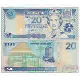 Brand New UNC Fiji 20 Yuan Banknote Foreign Currency 2002 P-107a