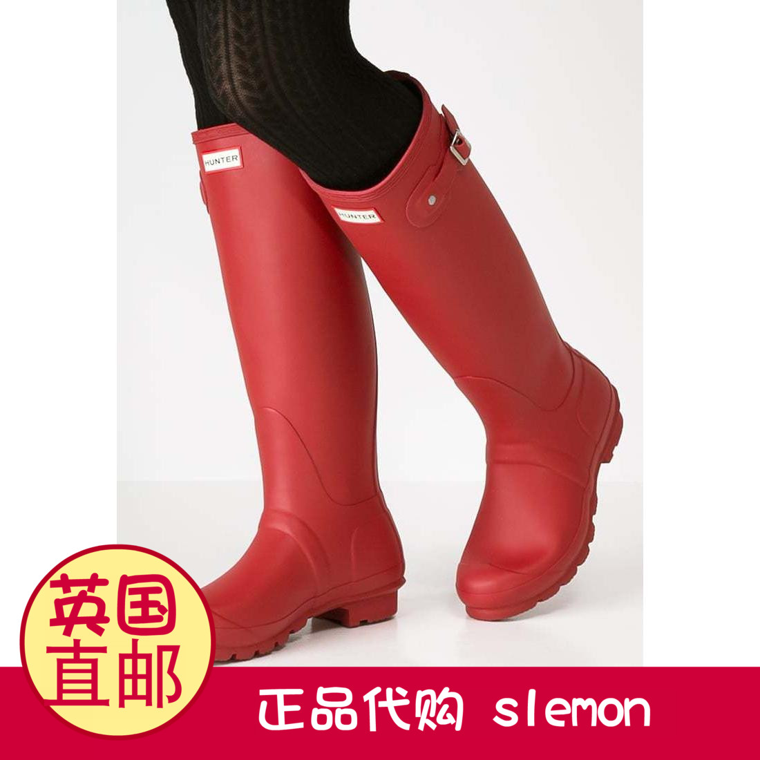 British direct mail genuine purchase HUNTER boots rain boots long tube rain  boots rubber rain boots 123a85ede39d3