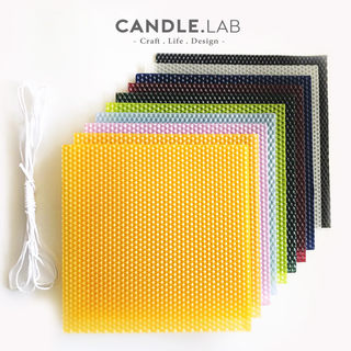 Candle.Lab Colored Honeycomb Wax Lixi Basius Honeycombe Wax Hand Roll Candle Material Multicolor Set