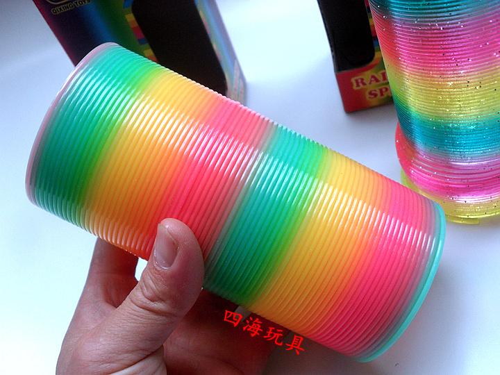 怀旧童年玩具礼物 运动魔力彩虹圈儿童成人大号弹簧圈 七彩圈拉环