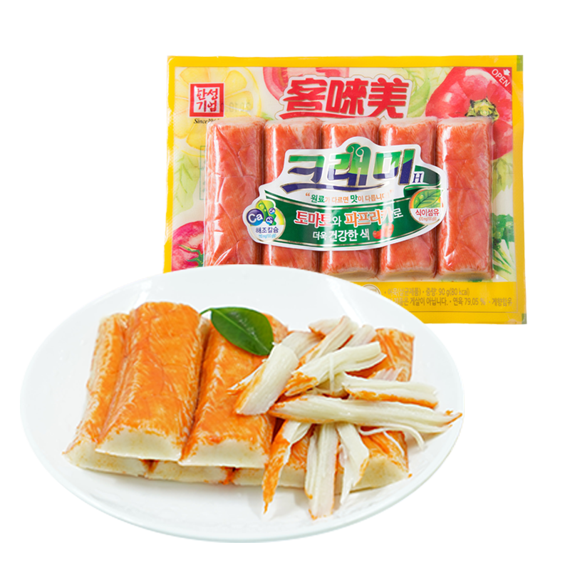 韩国进口即食蟹味棒3袋