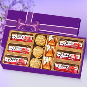 【亦泓】德芙巧克力diy礼盒装送女友