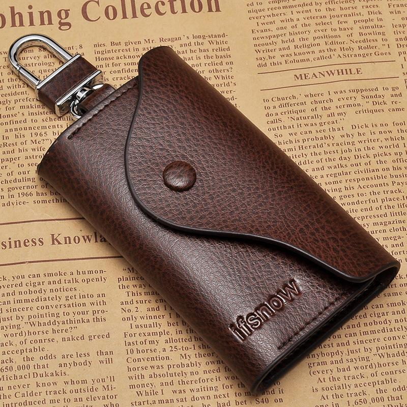 男士真皮钥匙包简约大容量多功能女牛皮锁匙包汽车匙钥包通用创意