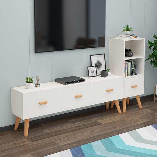Nordic TV cabinet simple modern small apartment living room bedroom simple combination mini TV cabinet TV table