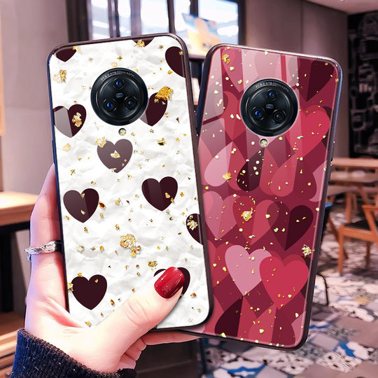 VIVO NEX3S 5G mobile phone case Japan and South Korea V1950A glass case glitter nex3s net red bling female anti-fall