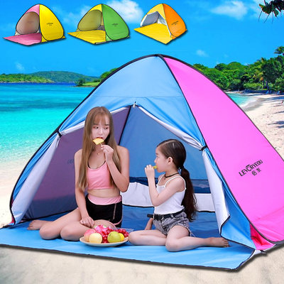 Outdoor beach tent speed open portal sunscreen rainfast simple children's tent folding small automatic home