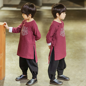 Boys Tang Suit for Kids Children's Hanfu boy's Chinese style Tang suit baby's ancient costume children's Chinese national clothing season children's wear