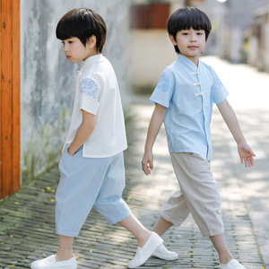 Boys Tang Suit for Kids Hanfu boys and children summer clothes Chinese style baby ancient Chinese style original children clothes children China style Tang Dynasty clothes