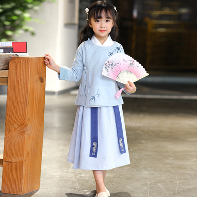 Girls' Hanfu, children's Retro national costume, children's children's wear, antique style, ancient costume