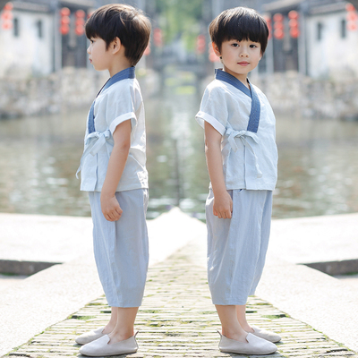 Boys Hanfu, children clothes, children national costume, children Retro costume