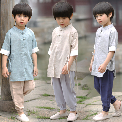 Boys Tang Suit for Kids Hanfu children clothes boysTang clothes summer children thin Chinese style retro children clothes baby national style clothes