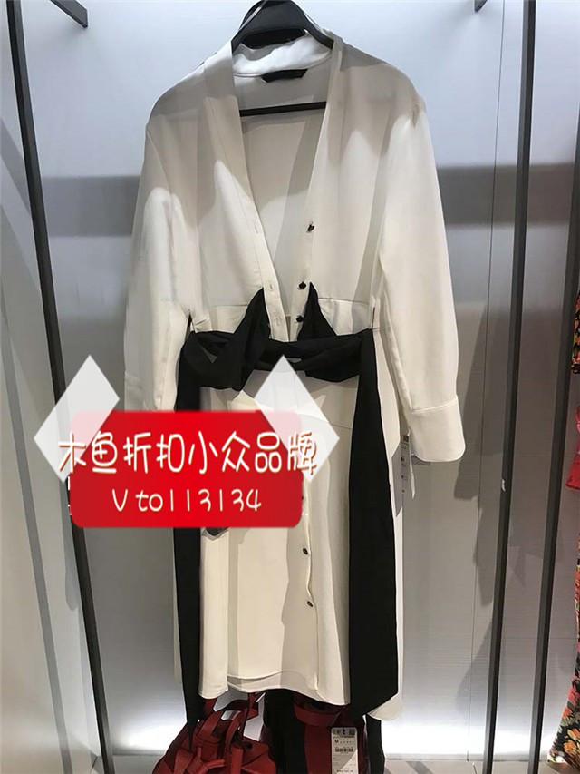 Muyu giảm giá mùa xuân và mùa hè mới tie eo váy nhỏ màu đỏ cuốn sách đề nghị váy 2388522 2398 522