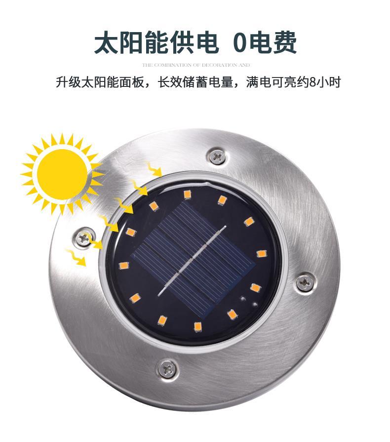 中國代購 中國批發-ibuy99 裕阳百货工厂直销智能光控LED太阳能地埋灯全年0电费抖音热卖款