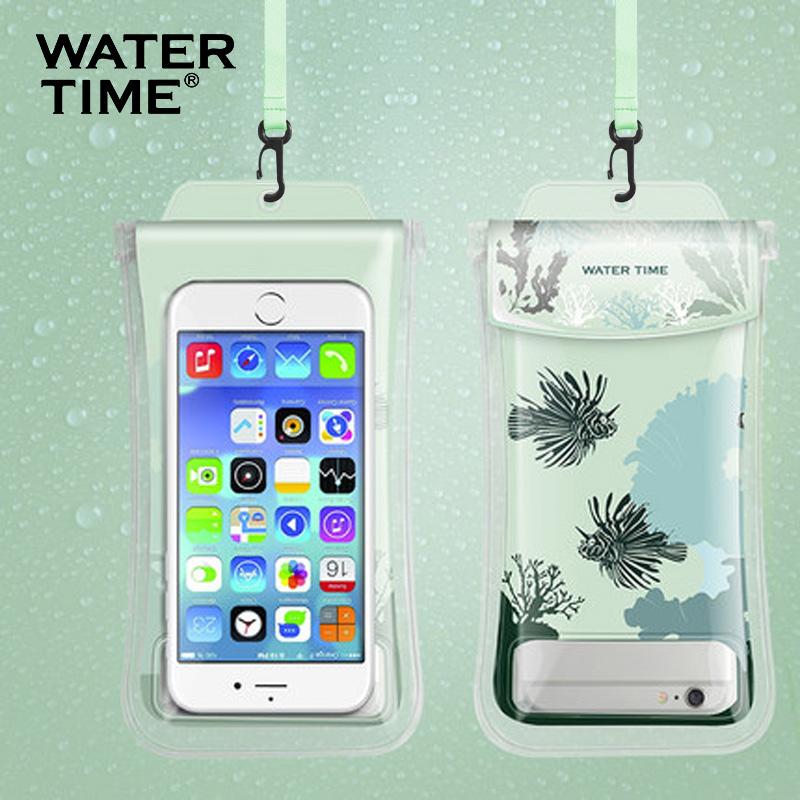 手机防水袋壳潜水套卡通可爱女可触屏通用游泳挂脖防尘包苹果华为