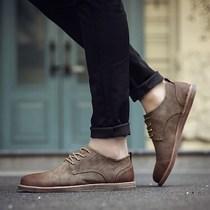 新款春款单鞋单鞋男士休闲皮鞋男英伦鞋子男7男鞋春秋潮鞋