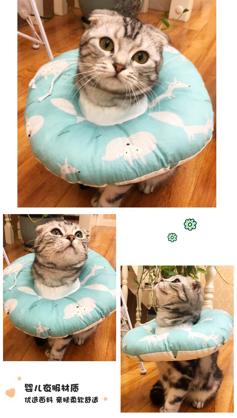 猫咪伊丽莎白圈猫软布项圈宠物狗头套防舔绝育幼猫伊利沙白耻辱圈详细照片