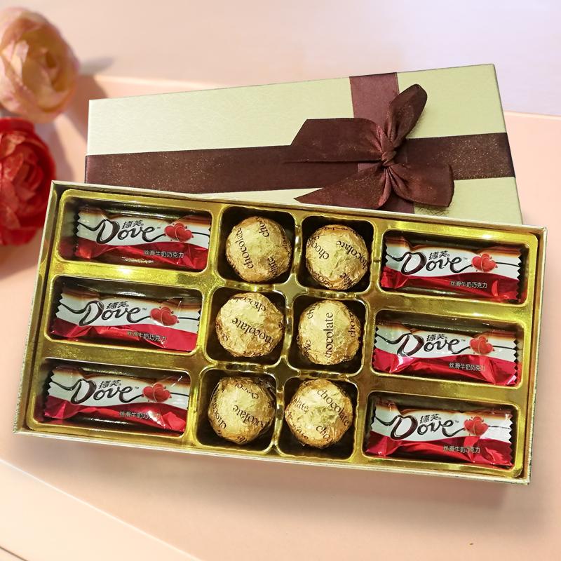 送女友德芙巧克力礼盒共12颗